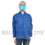Wegwerfarbeitskleidung des vliesstoff-SMS pp./Labormantel mit Tasche