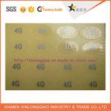 Etiqueta de la Impresora impreso en papel adhesivo transparente claramente la impresión de etiquetas etiqueta