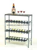 Organizador moderno de rack de garrafas de vinho de metal DIY, Aprovação NSF