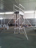 Material de construção de alumínio do andaime da escada da escalada da largura do sinal