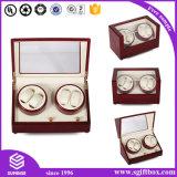 Caixa de relógio de couro feita sob encomenda gama alta do presente da jóia de Velet Perper