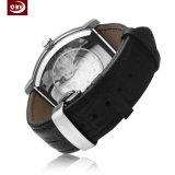 Montre-bracelet personnalisée de quartz d'acier inoxydable de logo pour le mâle
