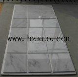 Flooring&Wallingのための305X305彫像用の白い大理石のタイル
