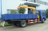 Auman 5 T de la rampe droite grue télescopique 7t camion avec grue