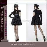 Женщин девушок масленицы Costume полисмена Halloween язычка взрослый сексуальный (TCLP3022)