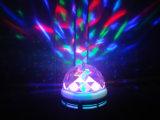 3W RGB LED 크리스탈 매직 볼 라이트 LED 회전 컬러 LED 라이트