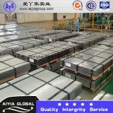 Bobina/strato d'acciaio galvanizzati tuffati caldi (ISO9001: 2008; La BV; SGS) nel prezzo competitivo pricipalmente usato per lo strato del tetto