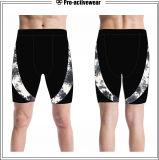 L'OEM assiste gli Shorts all'ingrosso di compressione del sudore dello spazio in bianco degli uomini