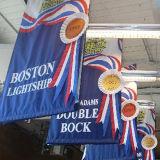 Preiswerte Preis-Gewebe-Fahne, die Fahnen-kundenspezifische vertikale hängende Gewebe-Fahne bekanntmacht