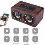 Retro houten draadloze mobiele bluetoothspreker