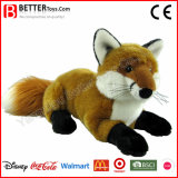Brinquedo macio Lifelike realístico do Fox do animal enchido do luxuoso de ASTM