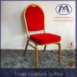Foshan moderno silla apilable rojo del banquete del metal
