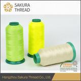 Hoch-Elastisches Polyester-leuchtendes Gewinde für Stickerei/das Stricken