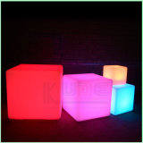 Muebles de cubo LED impermeable PE&simg Plasti; Enciende cubo LED