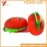 クリスマス(YB-AB-033)のためのカスタムかわいい様式のシリコーンゴムの硬貨の財布