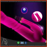 Brinquedos novos do sexo do vibrador do vibrador do vibrador do ponto de G para o vibrador do bichano do silicone do clitóris com o USB recarregável