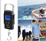 디지털 전자 무게를 다는 생선 비늘