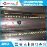 Calefator de água solar rachado da tubulação de calor