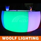 최신 상업적인 이동할 수 있는 큰 라운드 LED 바 카운터