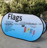 L'ultima strumentazione promozionale di mostra schiocca in su la bandiera