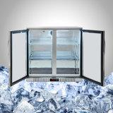 нержавеющая сталь Undercounter холодильник стеклянная передняя панель с функцией автоматического размораживания
