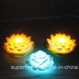 Le scintillement fonctionne sur batterie Outdoor imperméables en plastique de fleur de lotus à LED