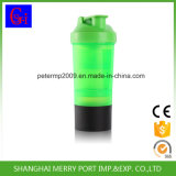 Agitador de promoção de qualidade superior, garrafa de água de escolares com dois recipientes