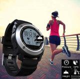 Relógio esperto ao ar livre do esporte com frequência cardíaca, pressão