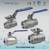 Rosca de aço inoxidável 1PC/2PC/3PC válvulas de esfera com marcação CE