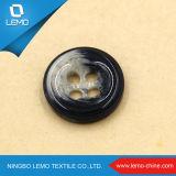 Botón cristalino de lujo de la resina