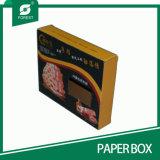 Vakje van het Document van de Verpakking van het Vlees van de plooi het Bovenkant Golf met Venster