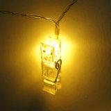 Декоративный свет шнура зажима СИД для вашей стены фотоего