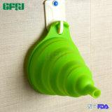 Entonnoir de mise en conserve pliable et en silicone FDA / LFGB pour liquide et poudre