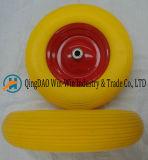 Het Wiel van de kleur Pu met /Plastic van het Staal Rand (16*4.00-8)