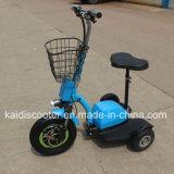 500W 3 바퀴 신체 장애자를 위한 전기 허브 모터 기동성 스쿠터