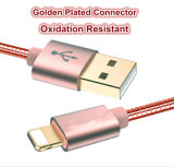 Aislamiento de nylon 8 Rayo Shell Meatal Pin cable USB para Smart Phone