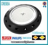 Bahía múltiple del UFO LED de las funciones (sensor de la hora solar, sensor de microonda, sensor de PIR) 130lm/W 100W 120W 150W alta