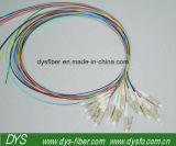 Cordon de connexion uni-mode recto de fibre optique de LC-LC