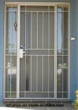 Vidro corrediço de industriais de alumínio de segurança com grelha de alumínio preto