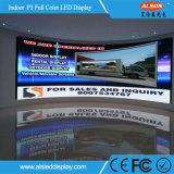 Tela de indicador interna de venda quente do diodo emissor de luz da cor P3 cheia