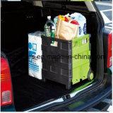 Carro de dobramento plástico do trole da compra do melhor preço bom com 2 rodas