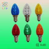 투명한 빨강 LED C7 E14 초 전구
