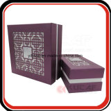 Caixa de papel luxuosa do corte do laser do presente da qualidade superior