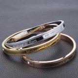 De gepersonaliseerde Armband van de Armband van het Manchet van het Roestvrij staal van het Ontwerp van de Douane van de Manier van Juwelen
