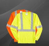 Дорогу трафик мужчин в отношении высокой отражающей безопасности длинной втулки рубашки поло