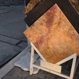 Polished застекленный сляб /Tile мрамора золота с высоким качеством