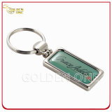 Promotion Gift Rectangle imprimé Epoxy Metal Key Tag