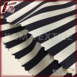 Hoch elastisches gedrucktes Streifen-Muster-rohes Silk Satin-Gewebe
