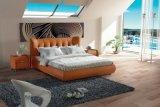寝室の家具の革柔らかいベッド(SBT-5810)