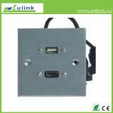 con piastra frontale della piastra frontale 86 della lega di alluminio del cavo di HDMI della lega per caratteri